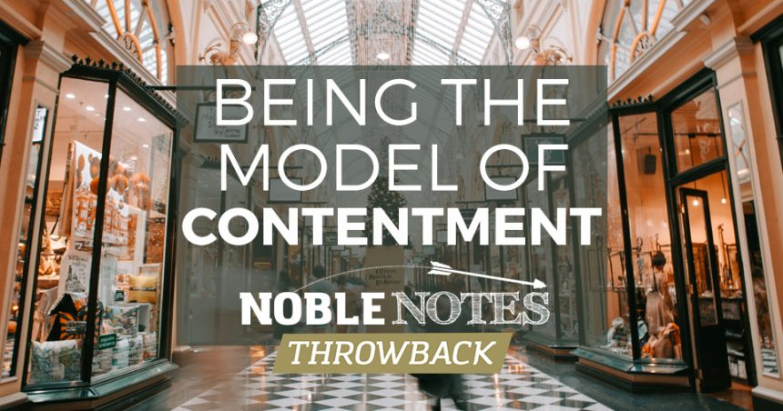Being the Model of Contentment