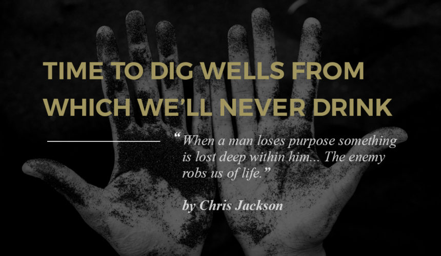 Time to Dig Wells From Which We'll Never Drink