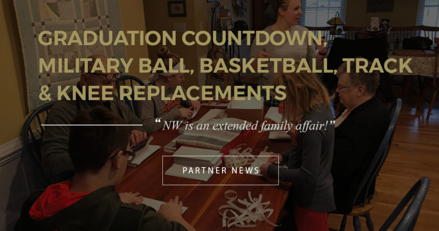 Graduation Countdown, Military Ball, Basketball, Track & Knee Replacements