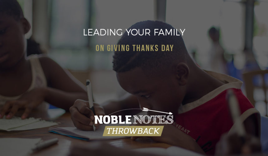 Leading Your Family on Giving Thanks Day