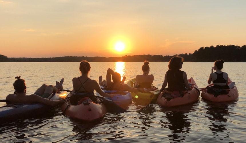 Driving, Paper-Making, Beach Breaks & a Birthday Kayak Cruise